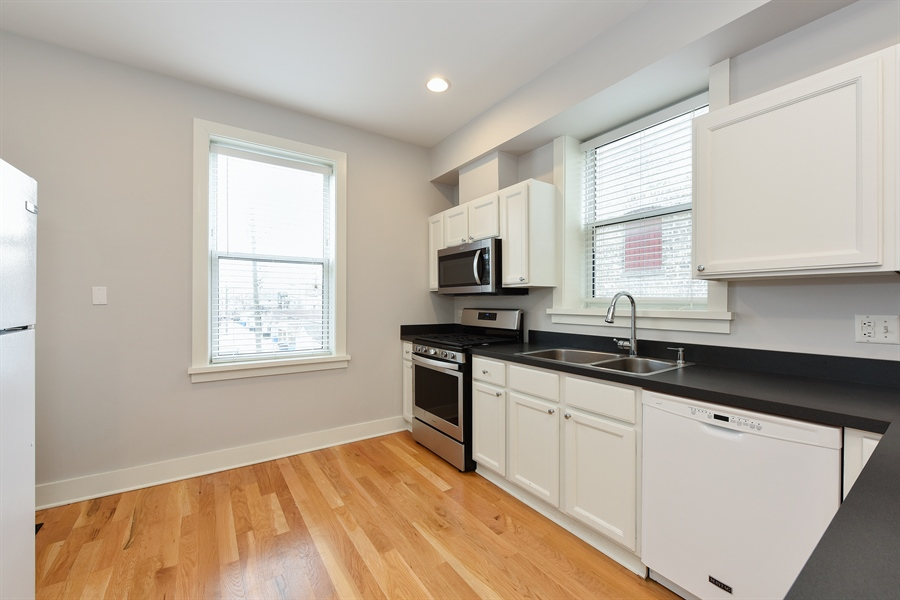 Real Estate Photography - 3045 W Sunnyside, 2W, Chicago, IL, 60625 - Kitchen