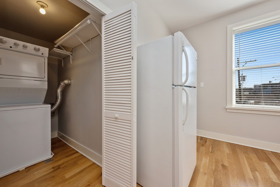 Real Estate Photography - 3045 W Sunnyside, 2W, Chicago, IL, 60625 - Laundry Room