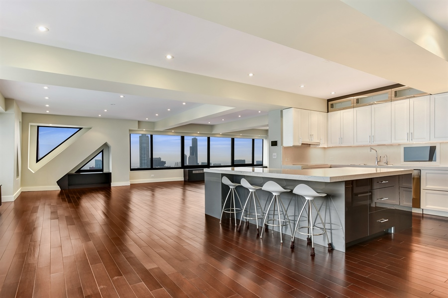 Real Estate Photography - 175 E Delaware, 7508, Chicago, IL, 60611 - Kitchen / Dining Room