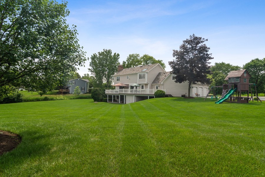 Real Estate Photography - 20905 Pheasant Trail, Barrington, IL, 60010 - Rear View