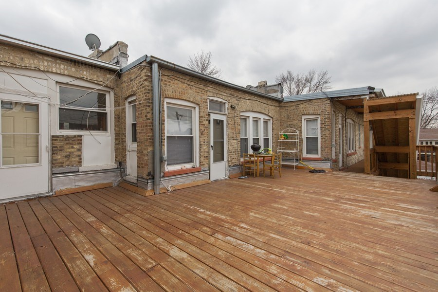 Real Estate Photography - 4138 N Milwaukee Ave, Chicago, IL, 60641 - Deck