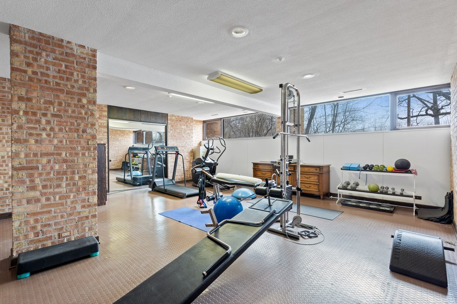 Real Estate Photography - 24 Brinker Rd, Barrington Hills, IL, 60010 - Gym