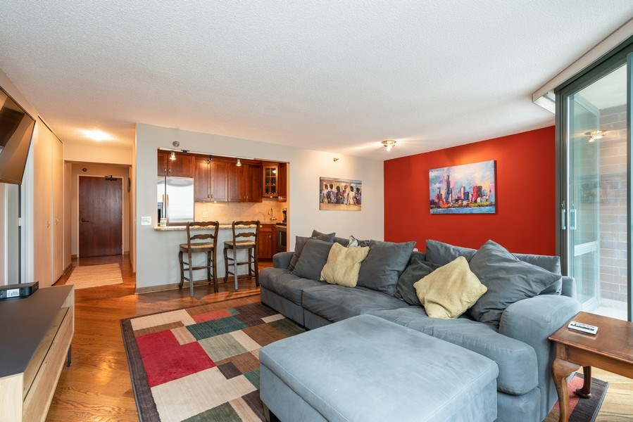 Real Estate Photography - 480 N McClurg Ct, Unit 716, Chicago, IL, 60611 - Living Room