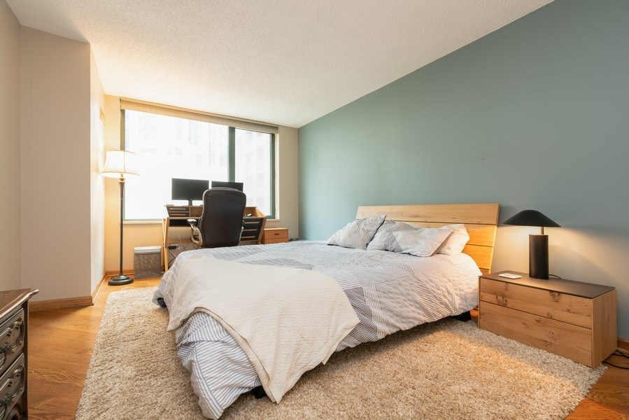 Real Estate Photography - 480 N McClurg Ct, Unit 716, Chicago, IL, 60611 - Bedroom
