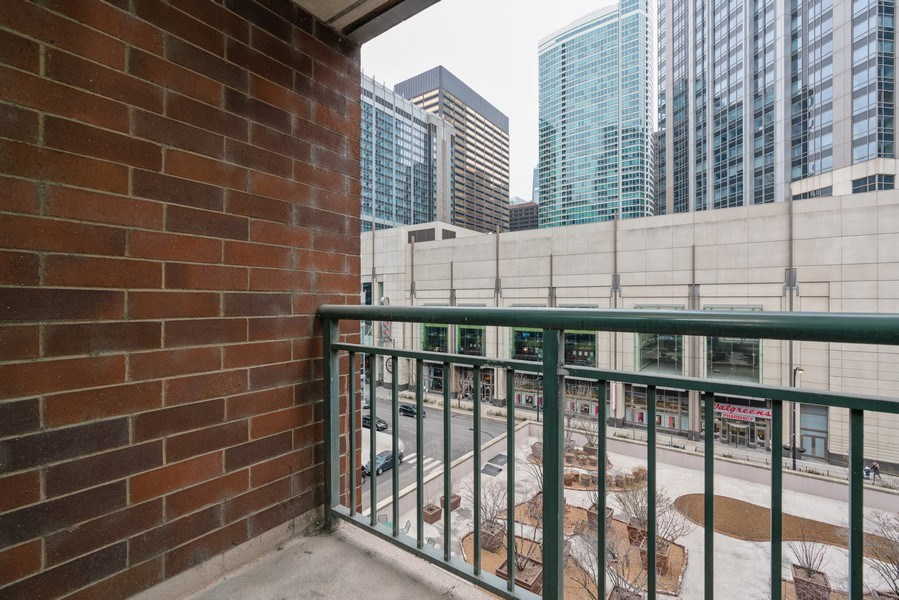 Real Estate Photography - 480 N McClurg Ct, Unit 716, Chicago, IL, 60611 - Balcony