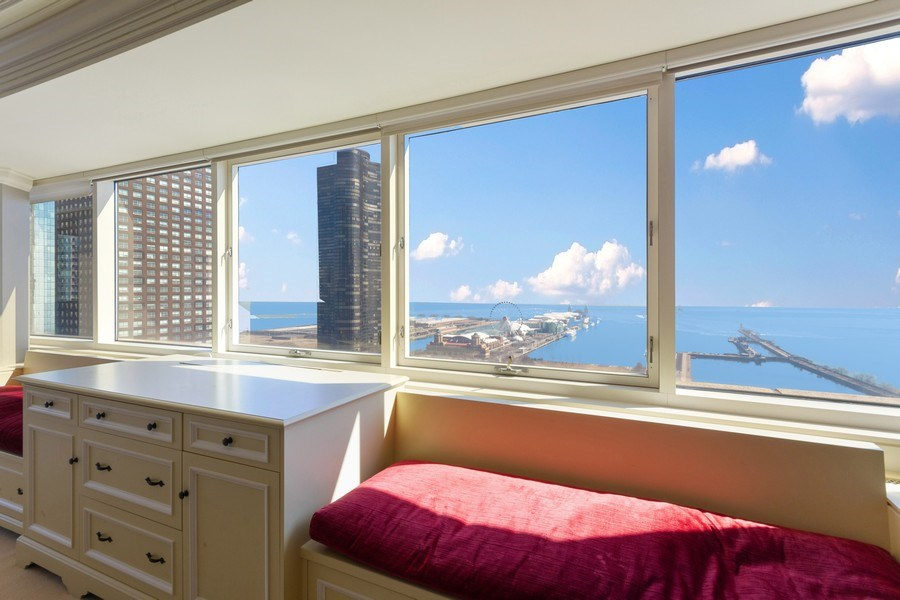 Real Estate Photography - 445 E North Water, Unit 2605, Chicago, IL, 60611 - Master Bedroom