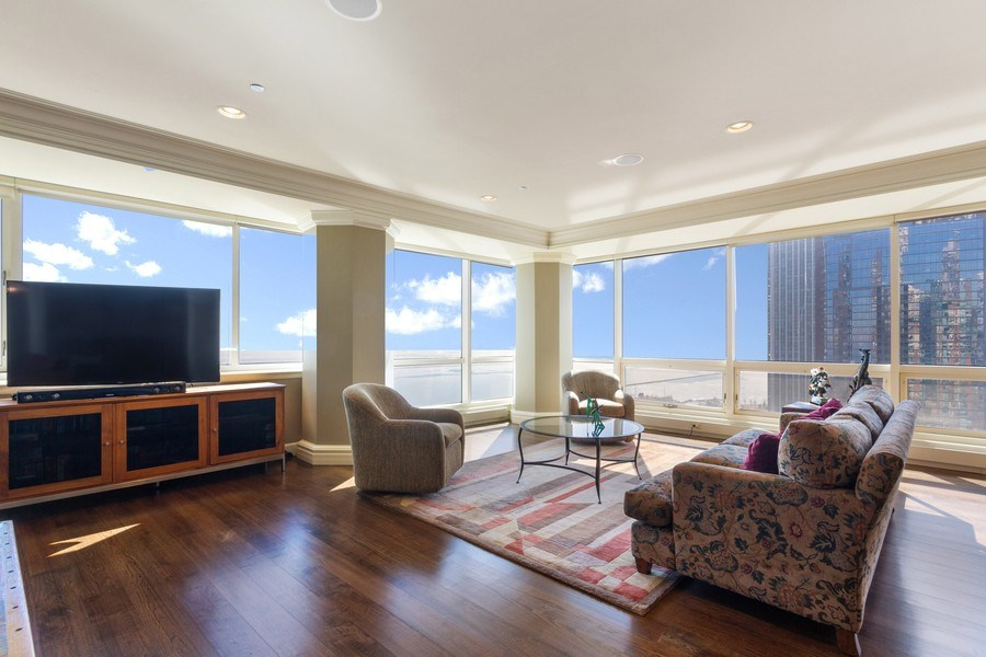 Real Estate Photography - 445 E North Water, Unit 2605, Chicago, IL, 60611 - Family Room