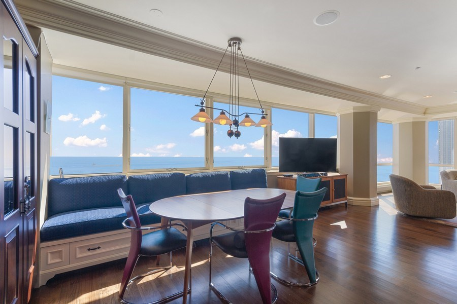 Real Estate Photography - 445 E North Water, Unit 2605, Chicago, IL, 60611 - Dining Room