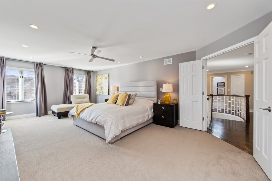Real Estate Photography - 1500 Burberry Lane, Schaumburg, IL, 60173 - Master Bedroom