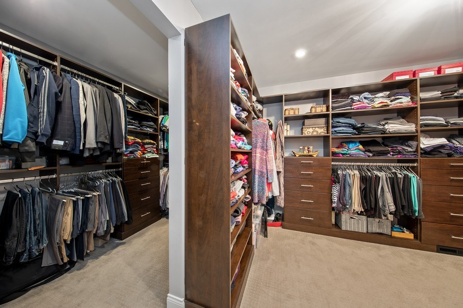Real Estate Photography - 1500 Burberry Lane, Schaumburg, IL, 60173 - Master Bedroom Closet