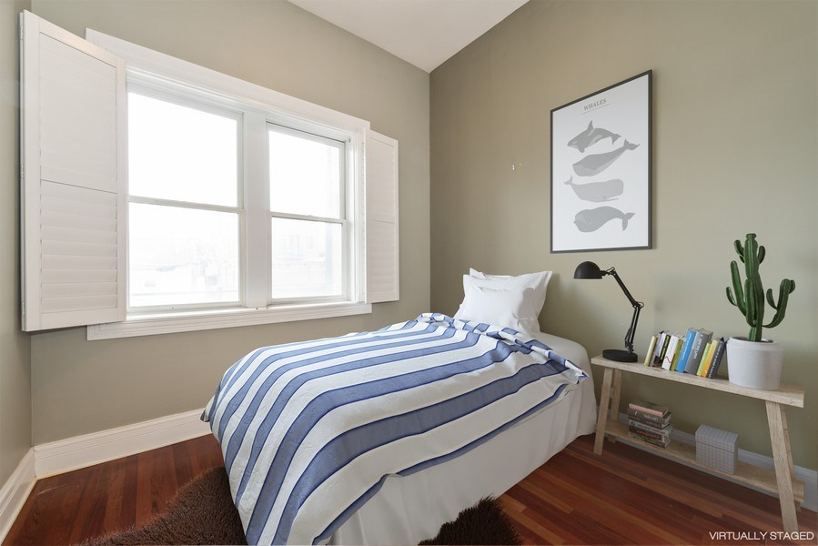 Real Estate Photography - 2549 N. Southport, 2, Chicago, IL, 60614 - 2nd Bedroom