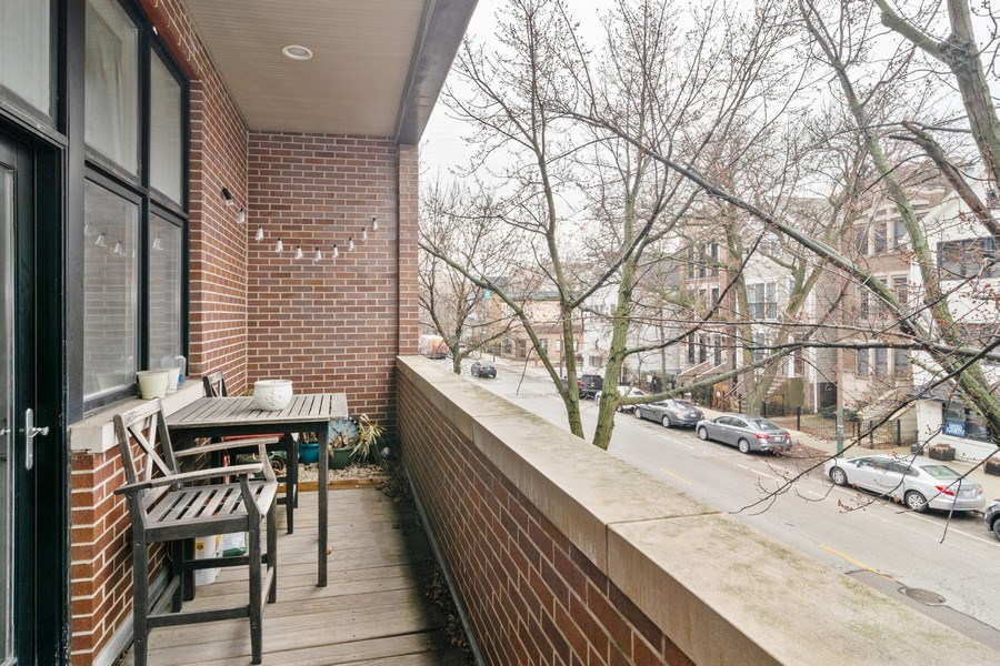 Real Estate Photography - 2549 N. Southport, 2, Chicago, IL, 60614 - Balcony