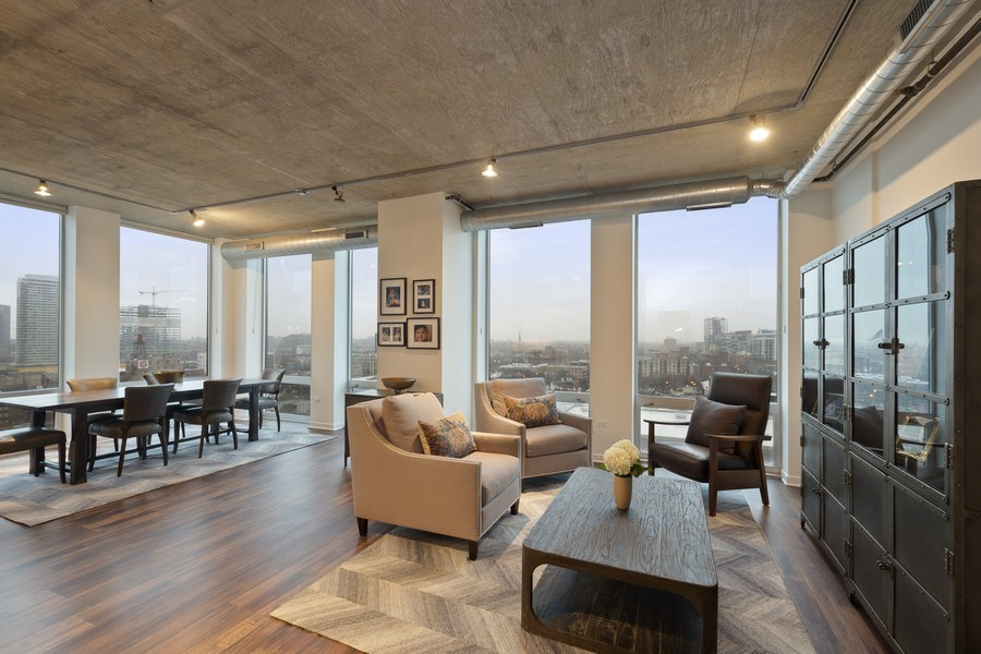 Real Estate Photography - 700 N Larrabee #1115, Chicago, IL, 60654 - Living Room