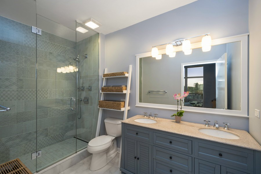 Real Estate Photography - 700 N Larrabee #1115, Chicago, IL, 60654 - Master Bathroom