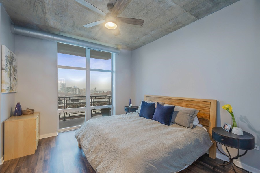 Real Estate Photography - 700 N Larrabee #1115, Chicago, IL, 60654 - Master Bedroom