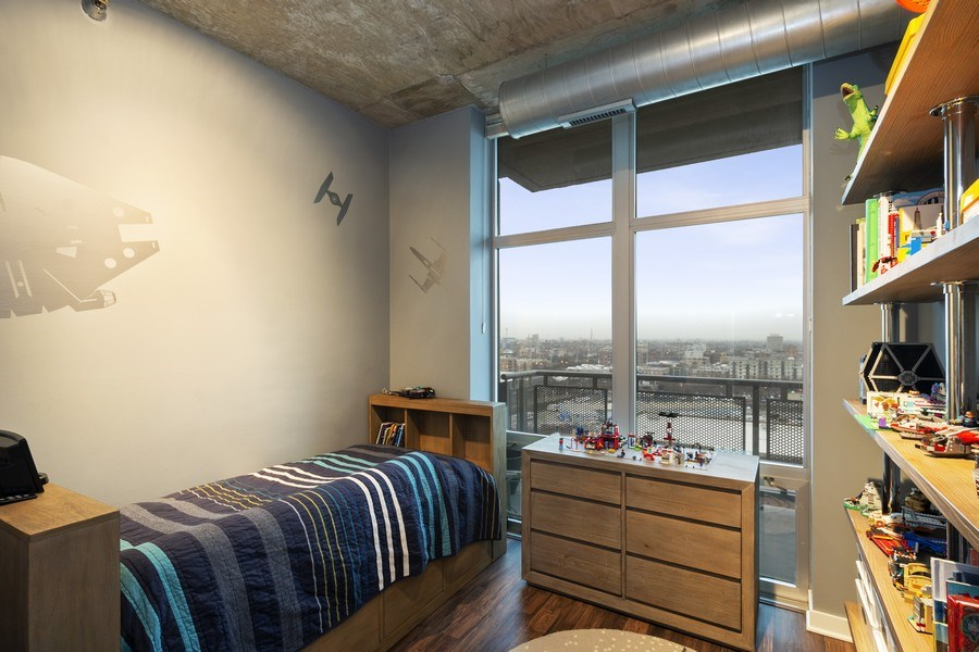 Real Estate Photography - 700 N Larrabee #1115, Chicago, IL, 60654 - 2nd Bedroom