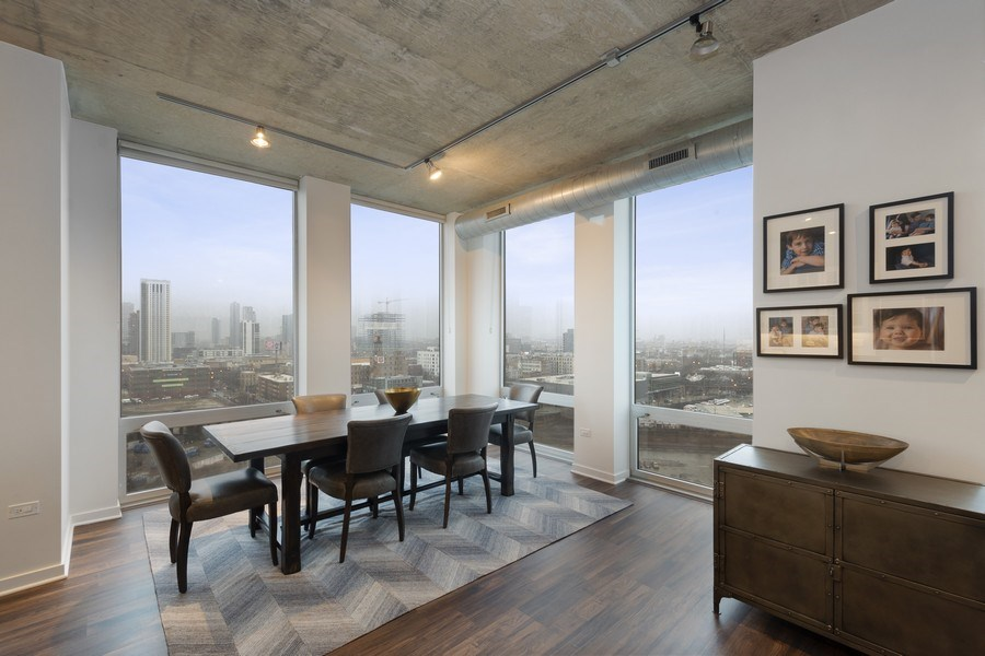 Real Estate Photography - 700 N Larrabee #1115, Chicago, IL, 60654 - Dining Room