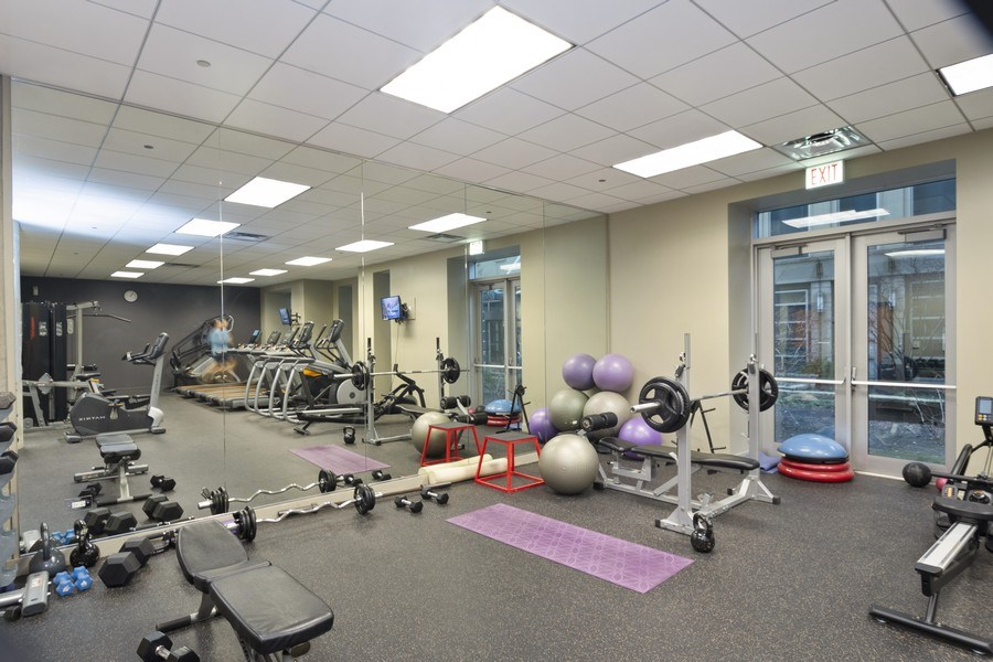 Real Estate Photography - 700 N Larrabee #1115, Chicago, IL, 60654 - Fitness Center