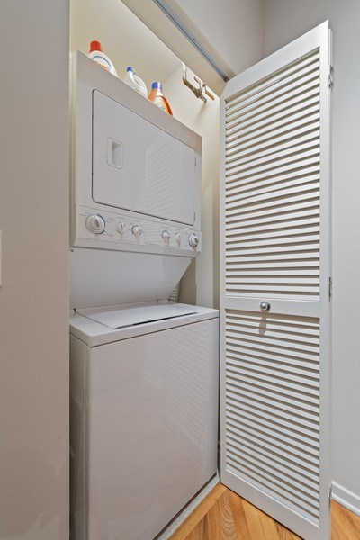 Real Estate Photography - 1040 W Adams St., Unit 209, Chicago, IL, 60607 - Laundry Room