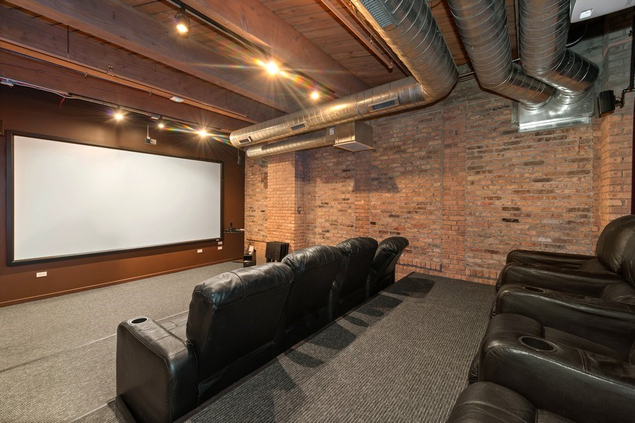 Real Estate Photography - 1040 W Adams St., Unit 209, Chicago, IL, 60607 - Theater