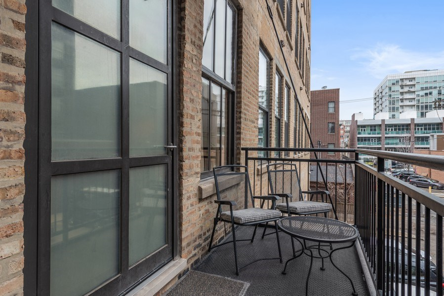Real Estate Photography - 1040 W Adams St., Unit 209, Chicago, IL, 60607 - Balcony