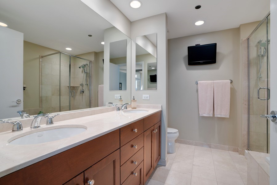 Real Estate Photography - 600 N Lake Shore Dr, Unit 3503, Chicago, IL, 60611 - Master Bathroom