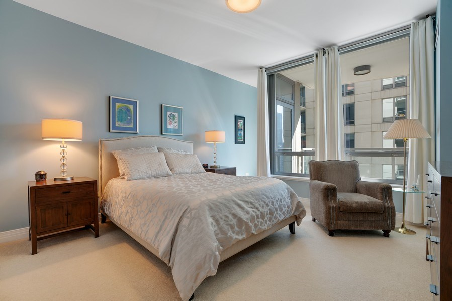 Real Estate Photography - 600 N Lake Shore Dr, Unit 3503, Chicago, IL, 60611 - Master Bedroom