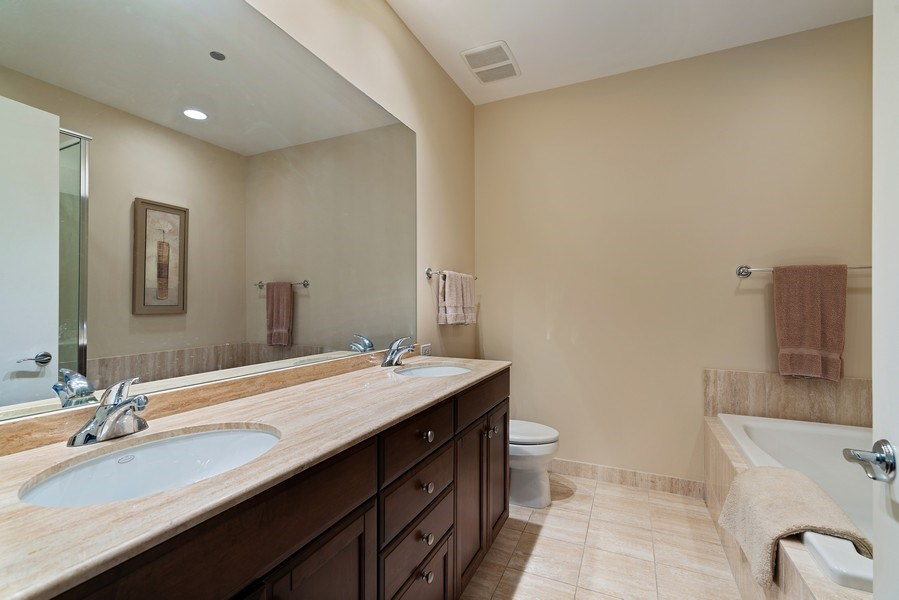 Real Estate Photography - 530 N Lake Shore Dr, Unit 2902, Chicago, IL, 60611 - Master Bathroom