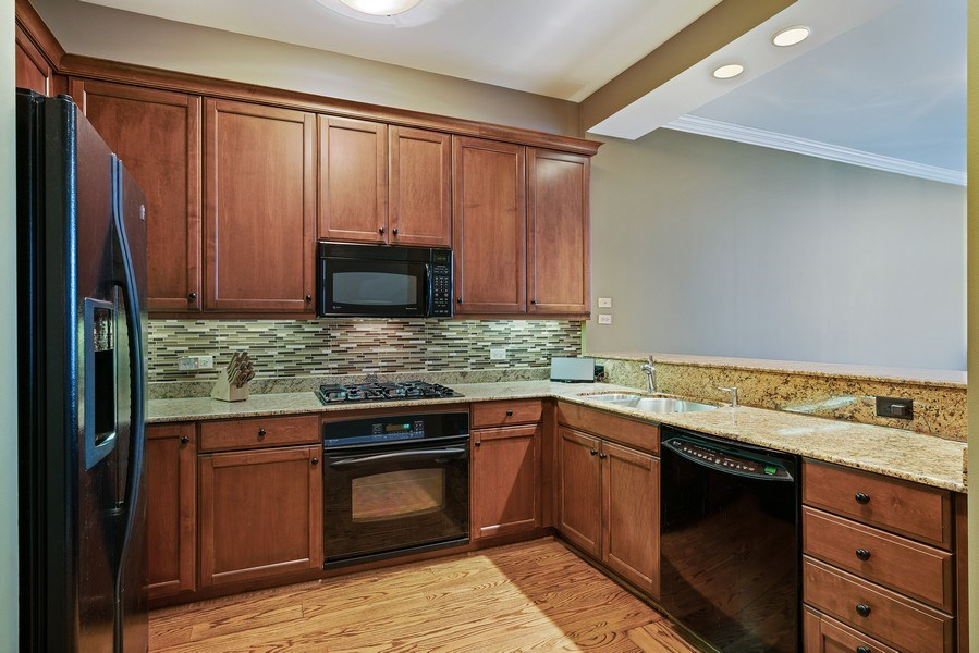 Real Estate Photography - 530 N Lake Shore Dr, Unit 2902, Chicago, IL, 60611 - Kitchen