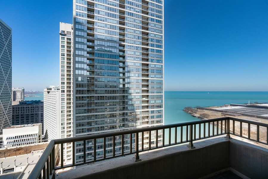 Real Estate Photography - 530 N Lake Shore Dr, Unit 2902, Chicago, IL, 60611 - Balcony