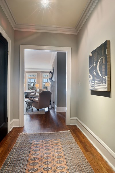 Real Estate Photography - 2600 North Lakeview Avenue, #4E, Chicago, IL, 60614 - GRACIOUS FORMAL GALLERY ENTRY IN #4E