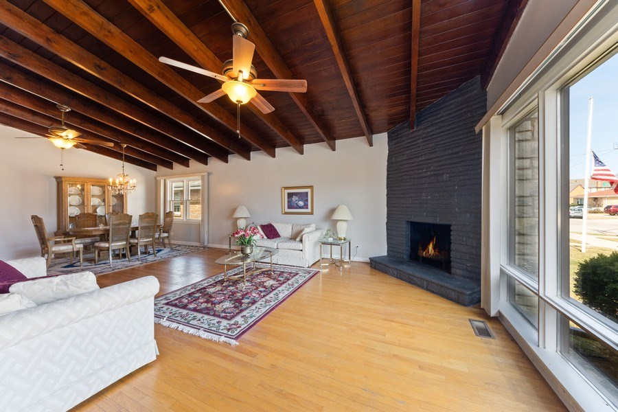 Real Estate Photography - 7252 N Overhill, Chicago, IL, 60631 - Living Room / Dining Room