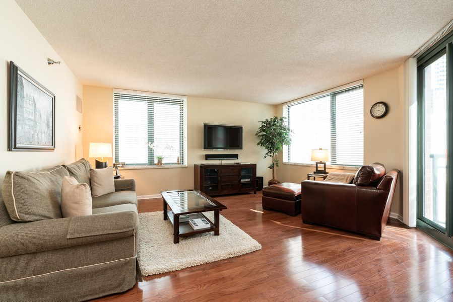 Real Estate Photography - 480 N McClurg Ct, Unit 920, Chicago, IL, 60611 - Living Room