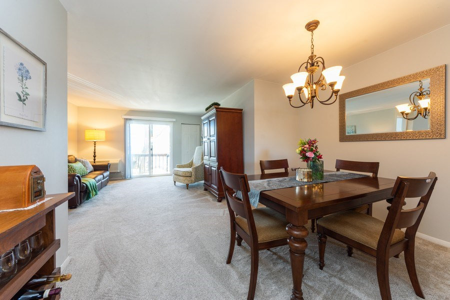Real Estate Photography - 2219 Nichols, #E, Arlington Heights, IL, 60004 - Living Room / Dining Room