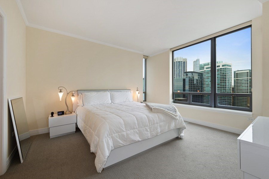 Real Estate Photography - 600 N Lake Shore #3809, Chicago, IL, 60611 - Master Bedroom