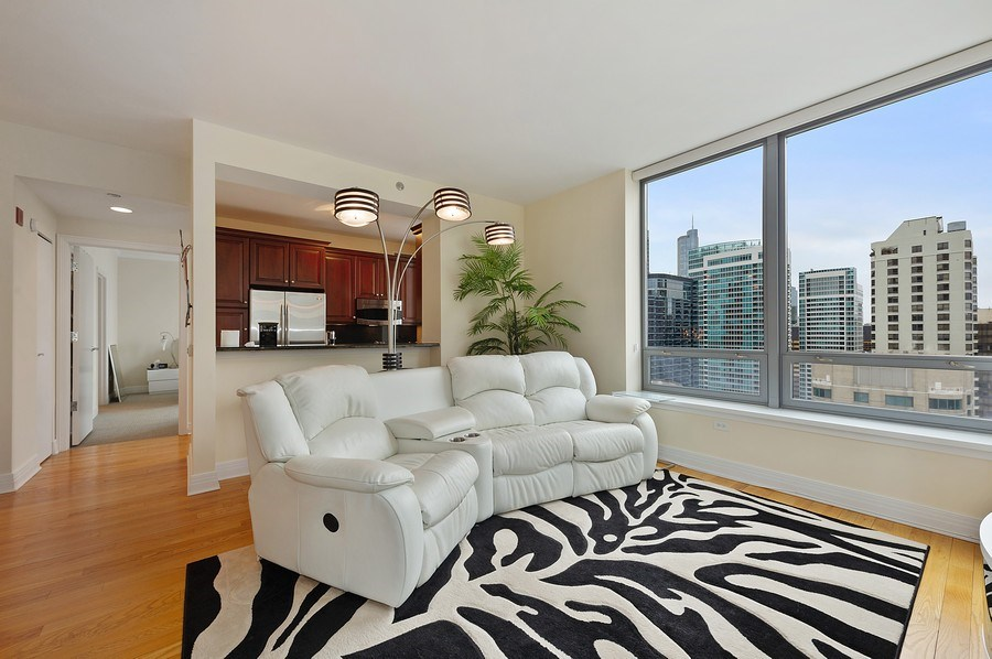 Real Estate Photography - 600 N Lake Shore #3809, Chicago, IL, 60611 - Living Room