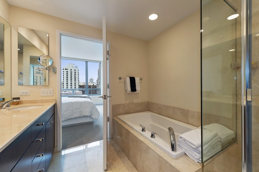 Real Estate Photography - 600 N Lake Shore #3809, Chicago, IL, 60611 - Master Bathroom