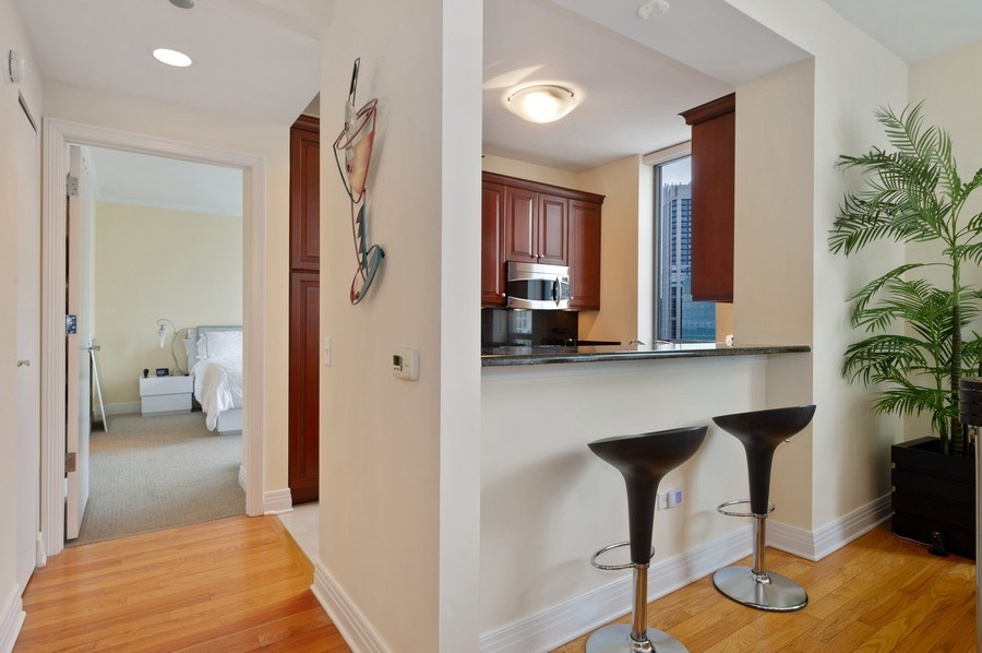 Real Estate Photography - 600 N Lake Shore #3809, Chicago, IL, 60611 - Kitchen / Breakfast Room