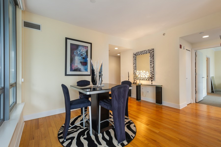 Real Estate Photography - 600 N Lake Shore #3809, Chicago, IL, 60611 - Dining Room