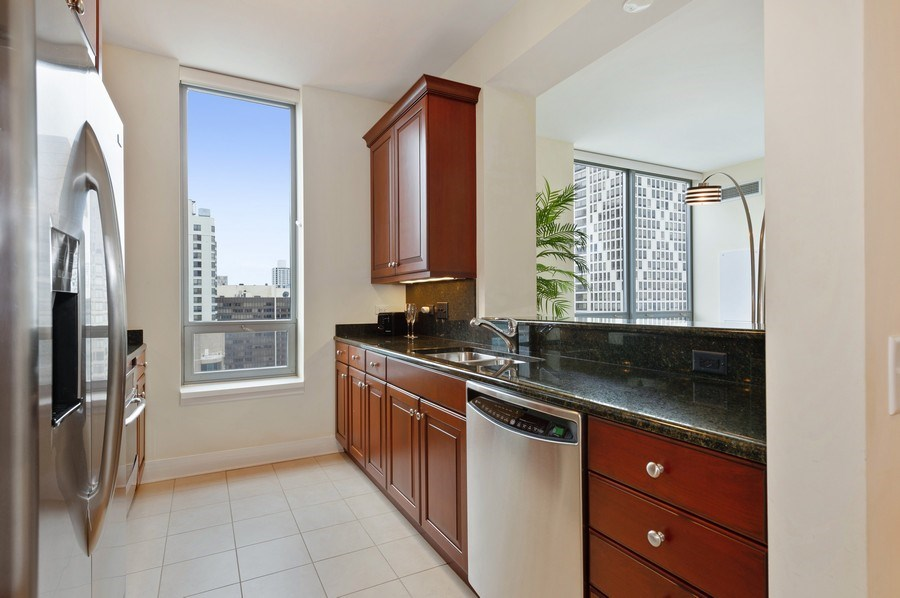 Real Estate Photography - 600 N Lake Shore #3809, Chicago, IL, 60611 - Kitchen