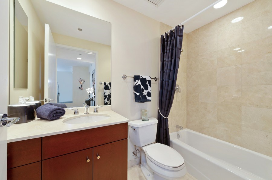Real Estate Photography - 600 N Lake Shore #3809, Chicago, IL, 60611 - 2nd Bathroom