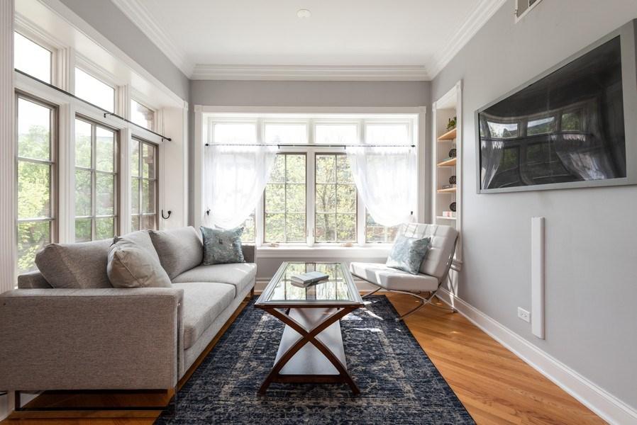 Real Estate Photography - 847 Ridge Ave, Unit 2, Evanston, IL, 60202 - Living Room