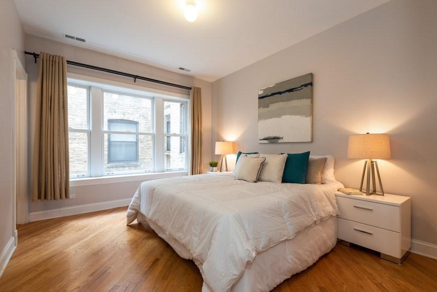 Real Estate Photography - 847 Ridge Ave, Unit 2, Evanston, IL, 60202 - Master Bedroom
