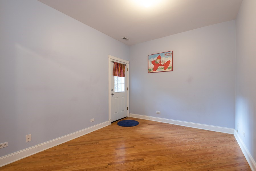 Real Estate Photography - 847 Ridge Ave, Unit 2, Evanston, IL, 60202 - 2nd Bedroom