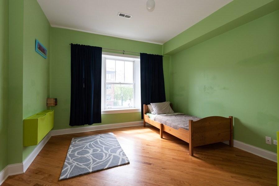 Real Estate Photography - 847 Ridge Ave, Unit 2, Evanston, IL, 60202 - 3rd Bedroom