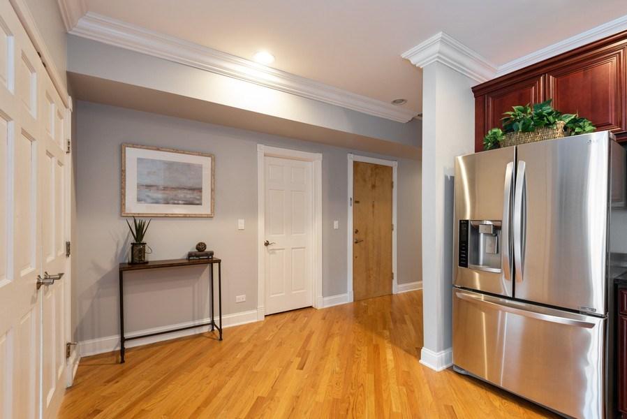 Real Estate Photography - 847 Ridge Ave, Unit 2, Evanston, IL, 60202 - Foyer