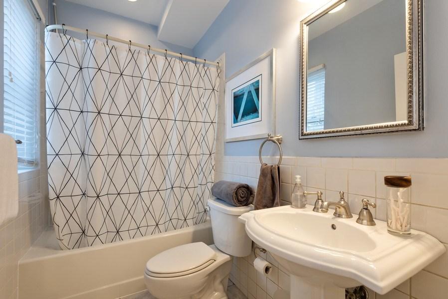 Real Estate Photography - 847 Ridge Ave, Unit 2, Evanston, IL, 60202 - Bathroom
