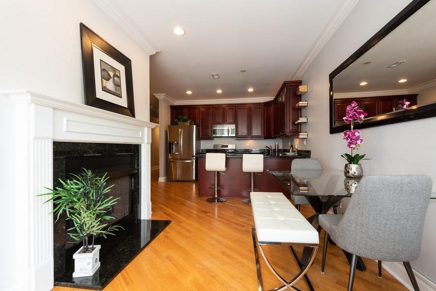 Real Estate Photography - 847 Ridge Ave, Unit 2, Evanston, IL, 60202 - Kitchen / Dining Room