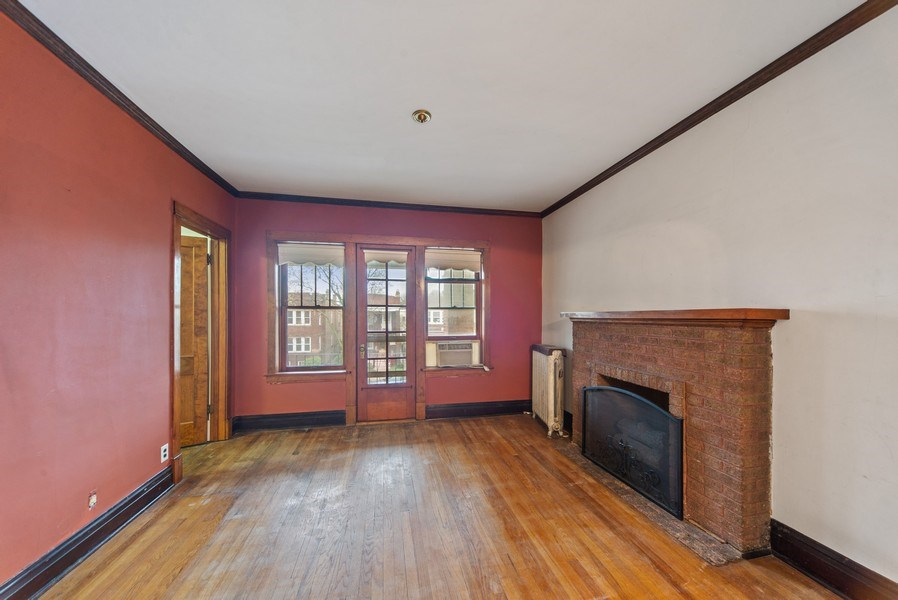 Real Estate Photography - 2512 W Cullom, Chicago, IL, 60641 - Living Room