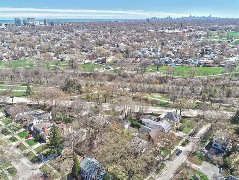 Real Estate Photography - 2041 Hawthorne Ln, Evanston, IL, 60201 - Aerial View